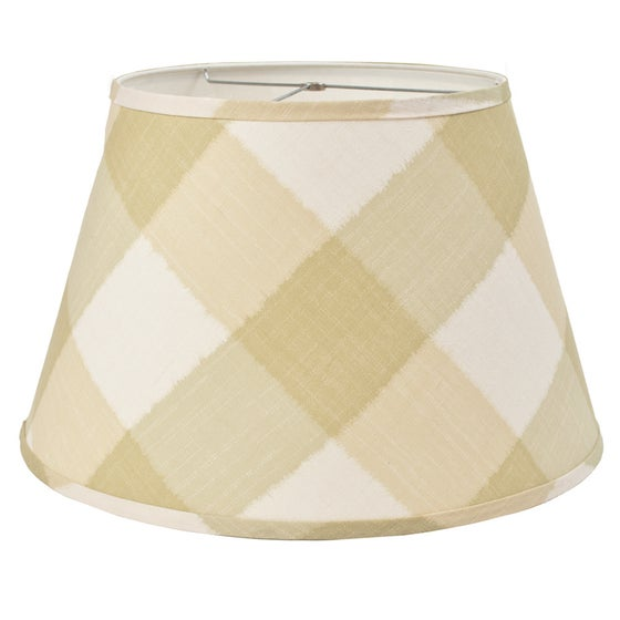 "Image of 20"" Ikat Check Sage Lampshade"