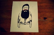 Image of Bearded Tattoo man print