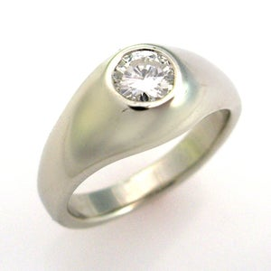 "Image of Ladies ""Gypsy"" Style Diamond Engagement RIng"