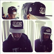 Image of Sevens x BBi SnapBack Collab ( Black & Grey )