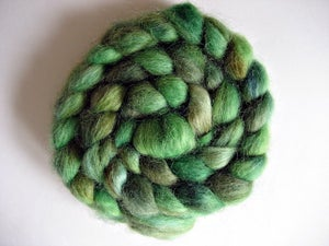 """Image of Sold Out """"Caribbean Way"""", Hand-Dyed Devon Wool for Spinning, Felting, and Doll Hair, 4 oz"""