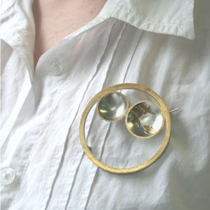 Image of Hoops and Birds Brooch