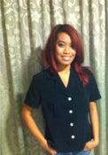 Image of black botton blouse