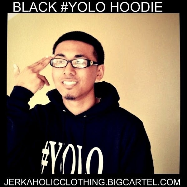 Image of #YOLO BLACK /WHITE HOODIE LIMITED #LEGGO