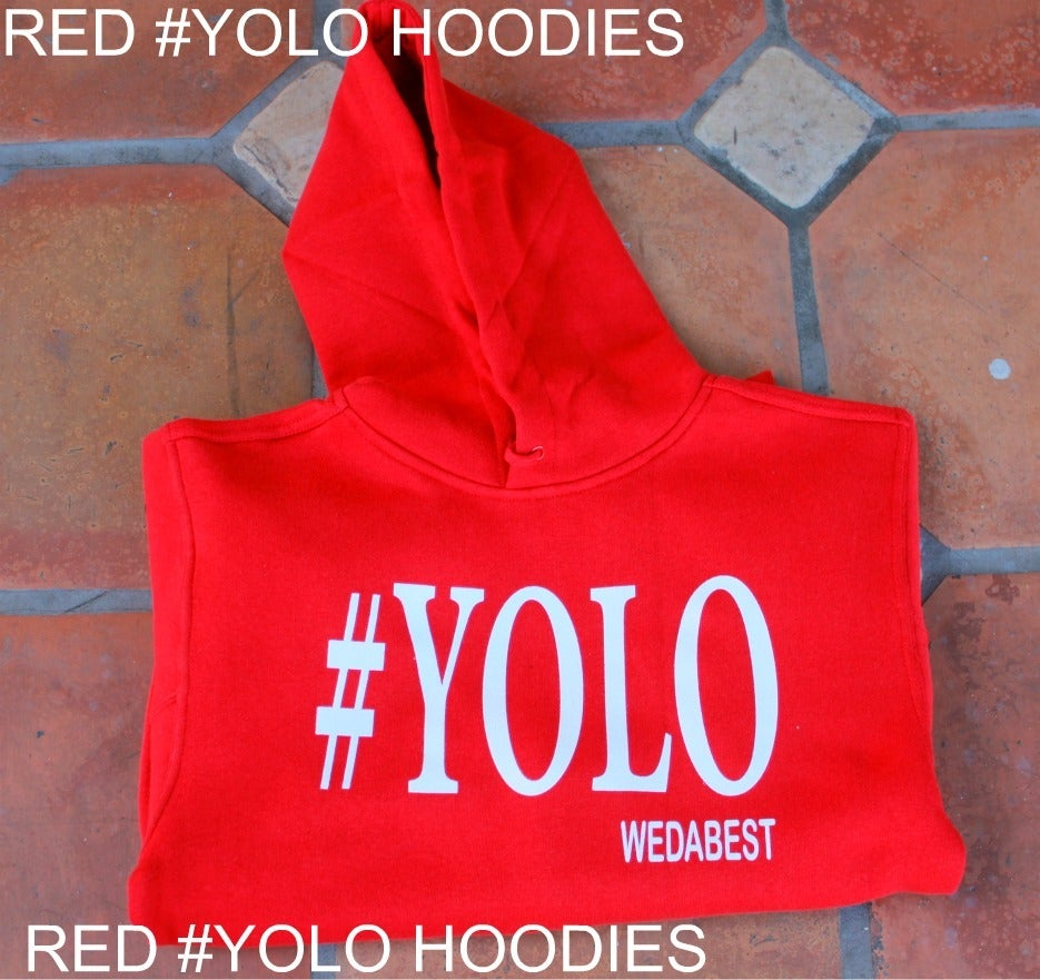 Image of RED/WHITE  #YOLO LIMITED HOODIES