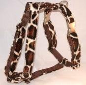 Image of Giraffe Faux-Fur Dog Harness