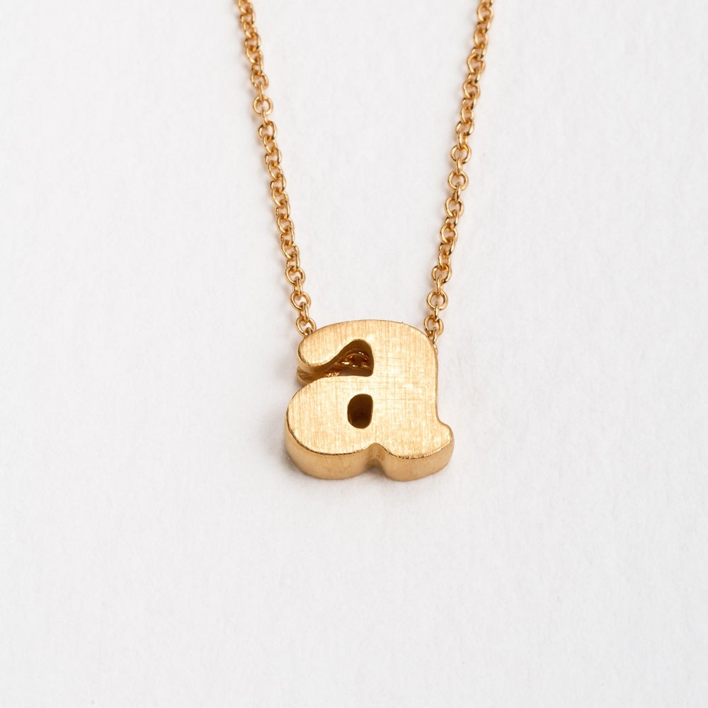 Image of 18k vermeil block letter initial necklace