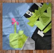 """Image of Carl Frankenstein's Flower 24"""" x 24"""" Quilt Block Pattern PDF"""