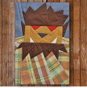 "Image of Chuck Wolfman 8"" x 10"" Quilt BLock Pattern PDF"