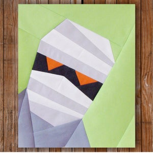 "Image of Mumford the Mummy 8"" x 10"" Quilt Block Pattern PDF"