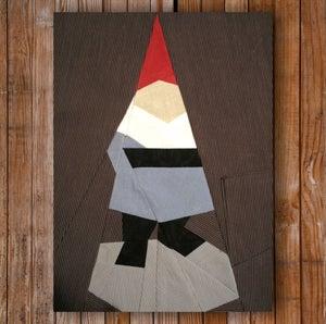 "Image of Mr. Gnome 8"" x 10"" Quilt Block Pattern PDF"