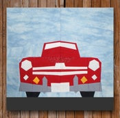 "Image of 1948 Ford Super Deluxe Convertible 12"" x 12"" Quilt Block Pattern PDF"