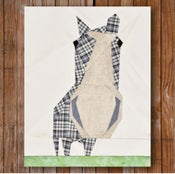 "Image of Peeping Horse 8"" x 10"" Quilt Block Pattern PDF"