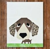 "Image of Peeping Puppy 8"" x 10"" Quilt Block Pattern PDF"
