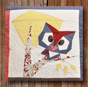 """Image of Peeping Owl 12"""" x 12"""" Quilt Block Pattern PDF"""
