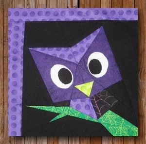 "Image of Easy Peeping Owl 10"" x 12"" Quilt Block Pattern PDF"