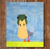 "Image of Peeping Duck 8"" x 10"" Quilt Block Pattern PDF"