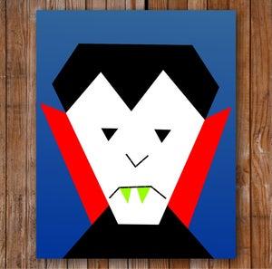 "Image of Vlad the Vegan Vampire 8"" x 10"" Quilt Block Pattern PDF"
