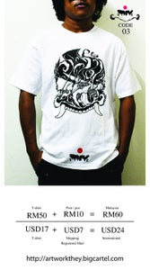 Image of THEY Artwork printed T-shirt Code 03