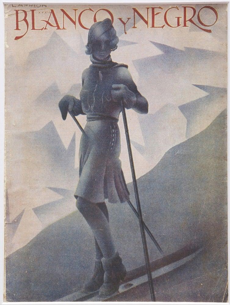 Image of Vintage Deco magazine cover Blanco y Negro