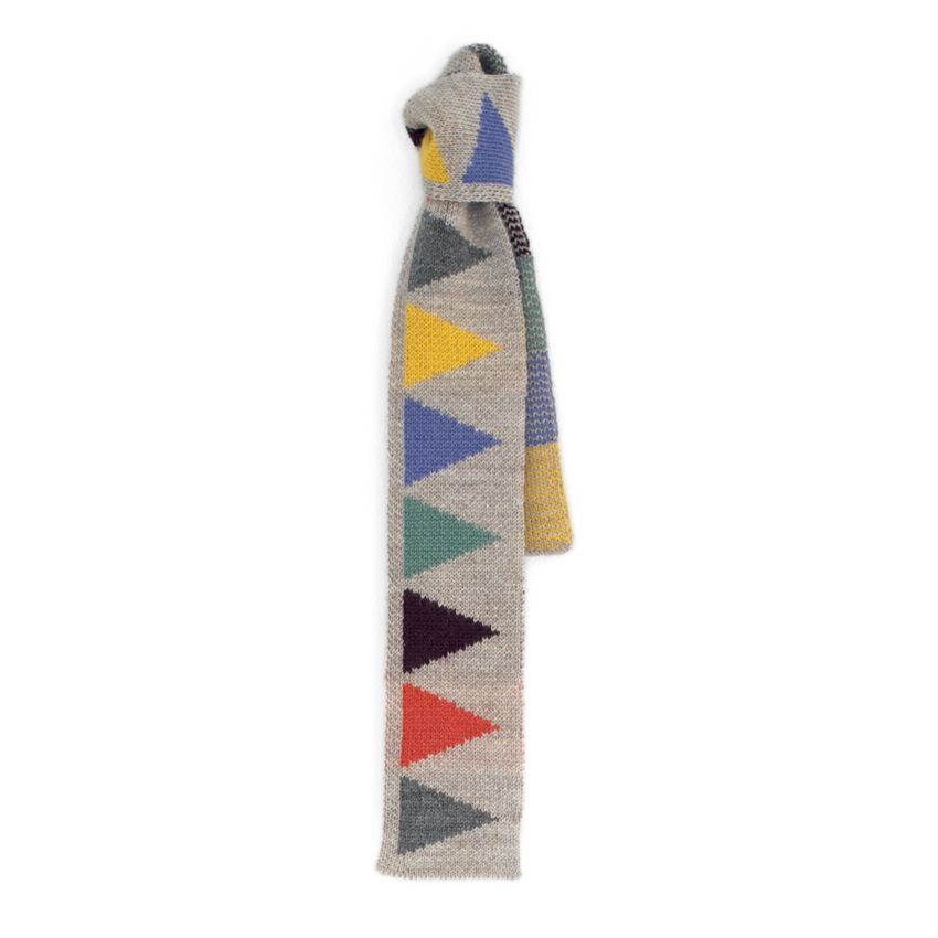 Image of CAROUSEL SCARF (Oatmeal and Multi)