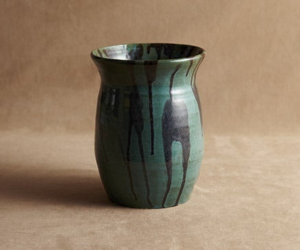 Image of Sean Wilde Green and Black Dripware Vase BC-239
