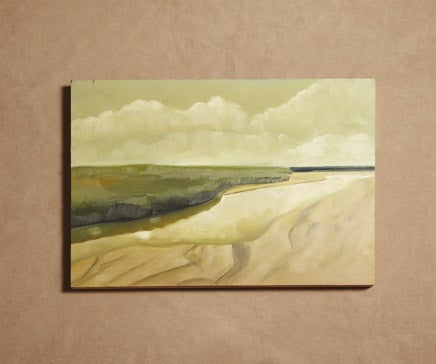 Image of Landscape Painting, Oil on Wood Panel