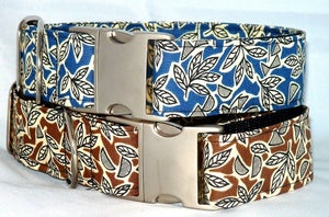 Image of Retro Leaves Dog Collar in the category  on Uncommon Paws.