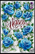 Image of Roses Giclee by Kore Flatmo- LTD Quantity 25-Signed and Numbered