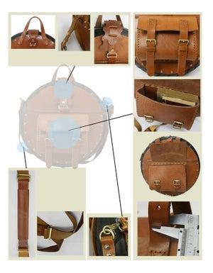 Image of TREASURE Art Bag - Handmade Novelly Messenger Bag Satchel in Antique Brown Leather (m29)