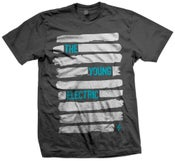 """Image of """"Lines"""" Charcoal Tee"""