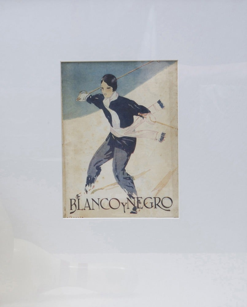 Image of 2nd Vintage Deco magazine cover Blanco y Negro