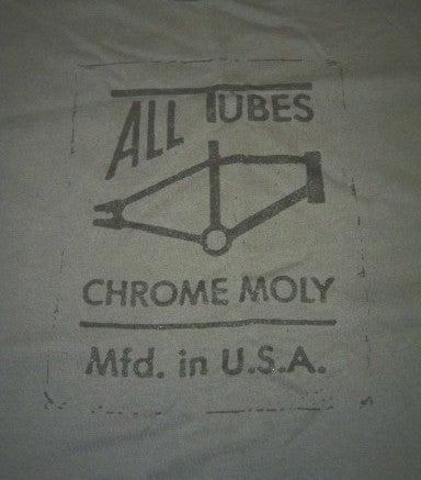Image of All Tubes Chromoly Old School BMX Guys T-Shirt