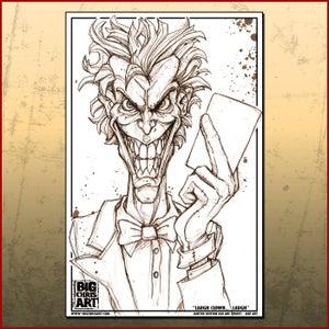 Image of Joker Line Art Print