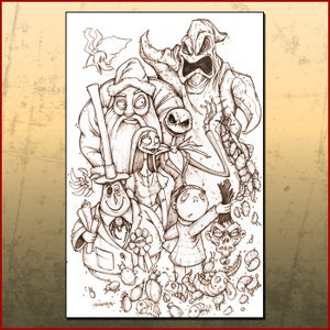 Image of Nightmare Before Christmas Line Art Print