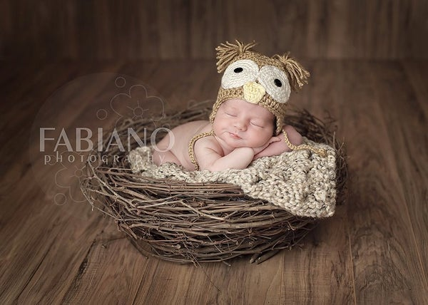 Image of Organic Realistic Birds Nest Photo Prop-Material option B