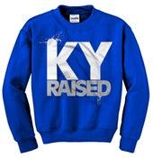 Image of Ky Raised Crewneck Sweatshirt in KY Blue / White / Grey