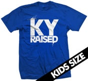 Image of Ky Raised Kids Tee in Blue and White