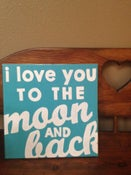 Image of I Love You to the Moon & Back painting (12x12)