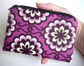 Image of Purple Little Zipper pouch coin purse Gadget Case ECO Friendly Fancy Purple Orchid (Padded)