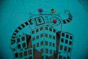 Image of Big Robots Visit Cities Womens Tshirt