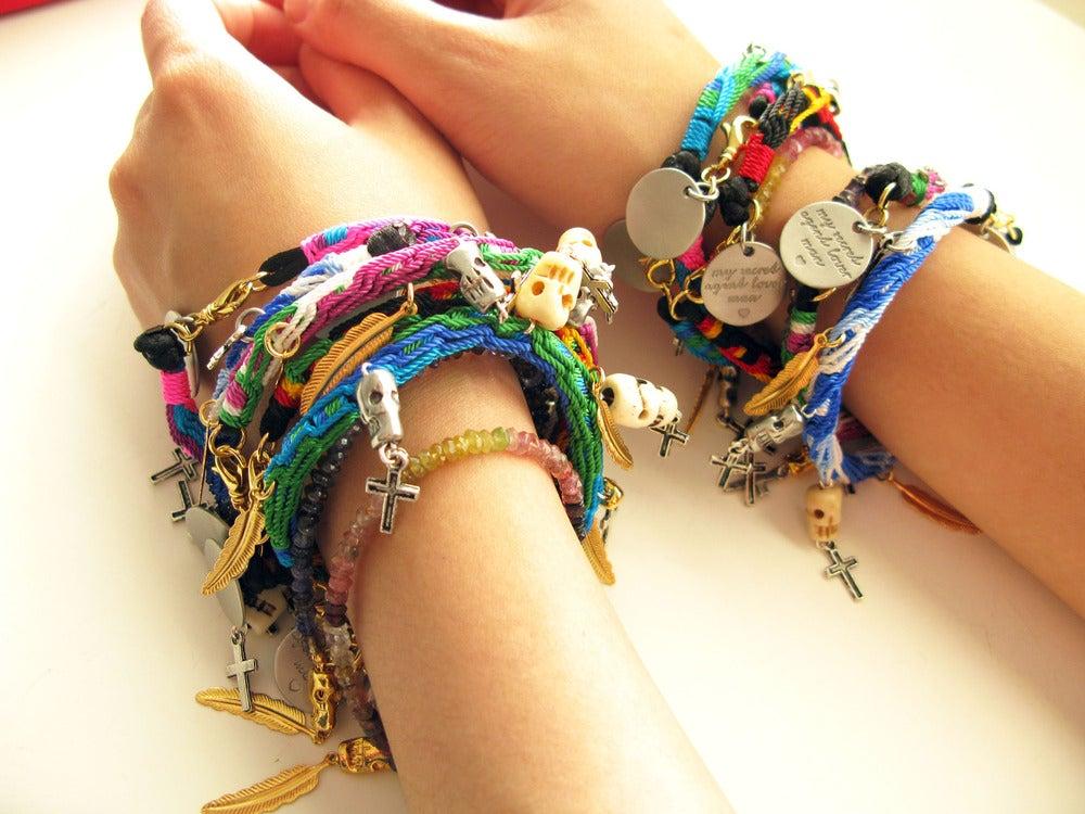 Image of Friendship Skull Bracelet