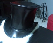 Image of Leather Top Hat