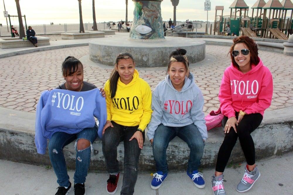"""Image of STORM DEBARGE """"LAVENDER #YOLO HOODIE"""