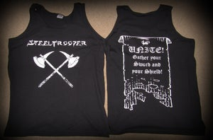 "Image of Steeltrooper ""Night Prowler"" Vest/T-shirt + FREE WRISTBAND!"