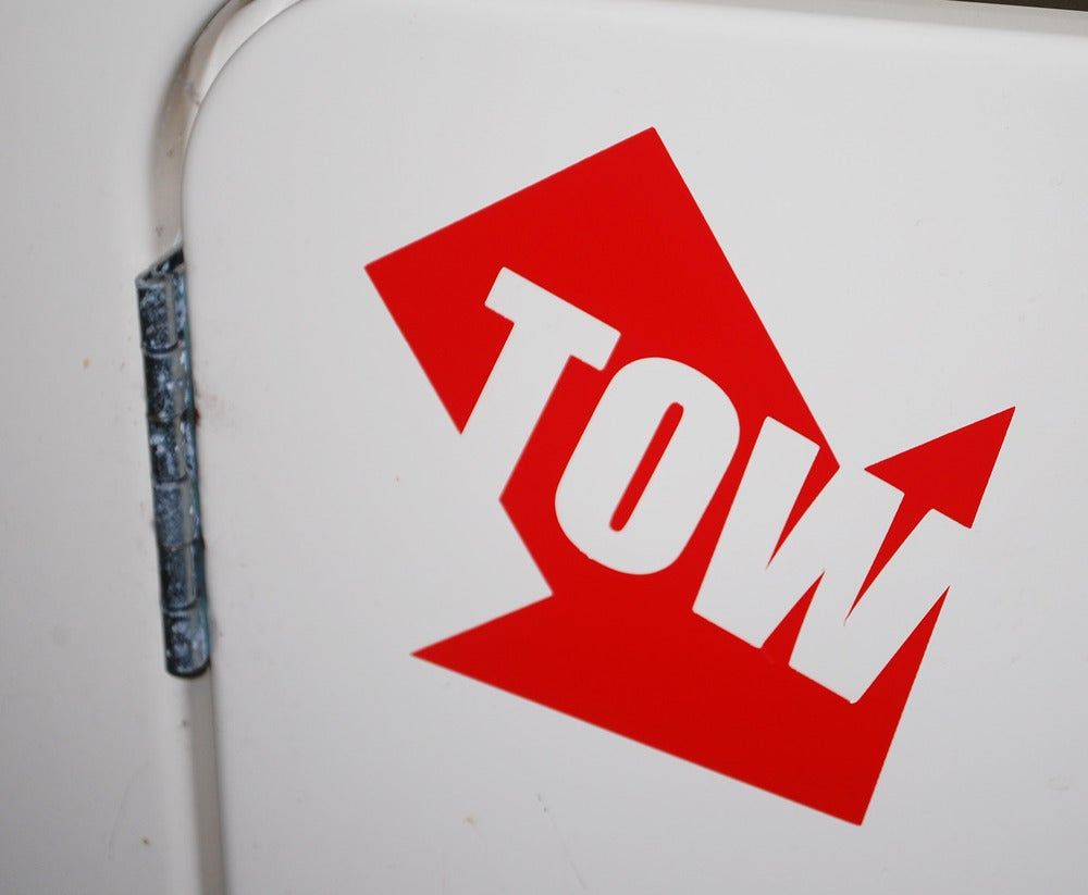 Image of Angled Tow Sticker (set of 2)