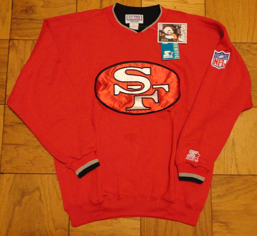 Image of VINTAGE SAN FRANCISCO 49ERS STARTER CREW NECK SWEATSHIRT