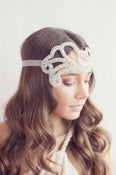 Image of 1920's inspired rhinestone headband