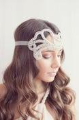 Image of 1920's inspired rhinestone headband