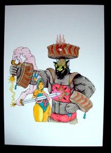 Image of The Blumafuria Explorers, Original Drawing